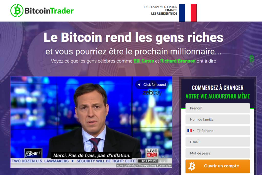 Bitcoin Trader site internet